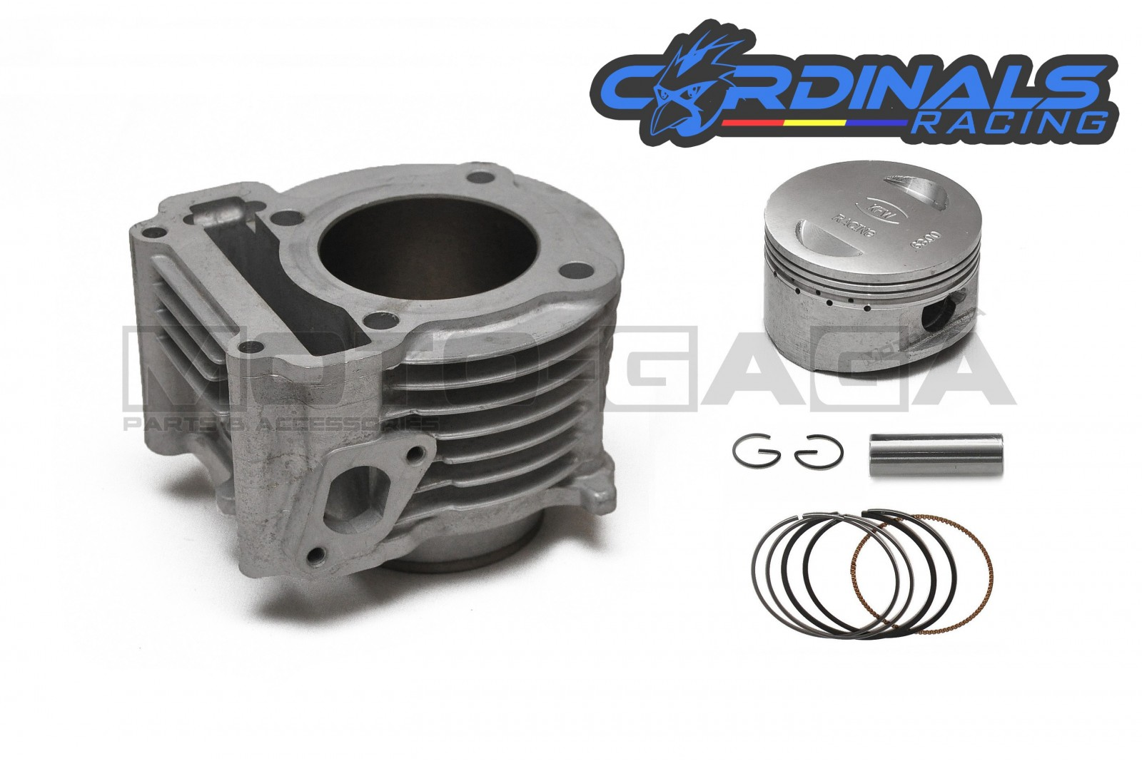 Cardinals Racing Ceramic Big Bore Cylinder Kit - Yamaha  Ego/Mio/Luvias/Nouvo 115 AT - 63mm (180cc)