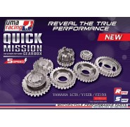 UMA Racing Close Ratio 5 speed Gear Set - Yamaha T135 (5-Speed)/T150/Fz150i Vixion