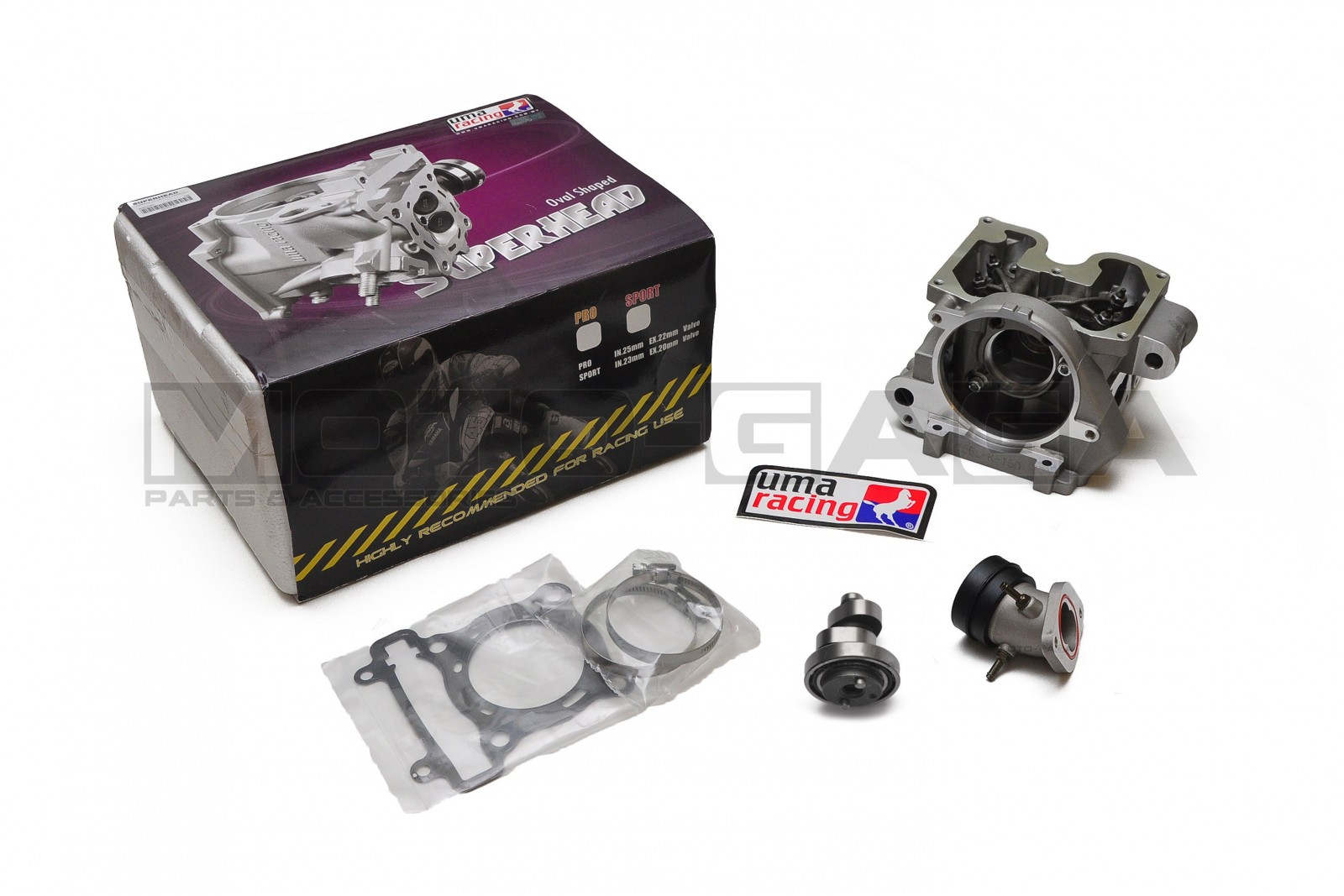 UMA Super Racing Cylinder head - Yamaha Fz150i/Vixion/R15/YZF-R125 Jupiter  MX/Crypton X/Spark/Exciter 135/150 (22in/25ex)