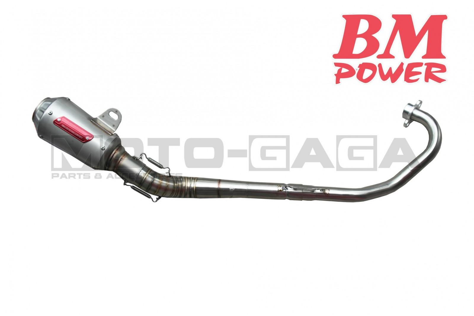 BM Power GP2 Racing Exhaust - Yamaha Y15ZR/Jupiter MX King/Crypton  X/Spark/Exciter/Sniper T150