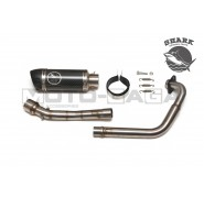 Shark Racing Carbon Fiber Exhaust System - Yamaha T135 (5-speed manual)