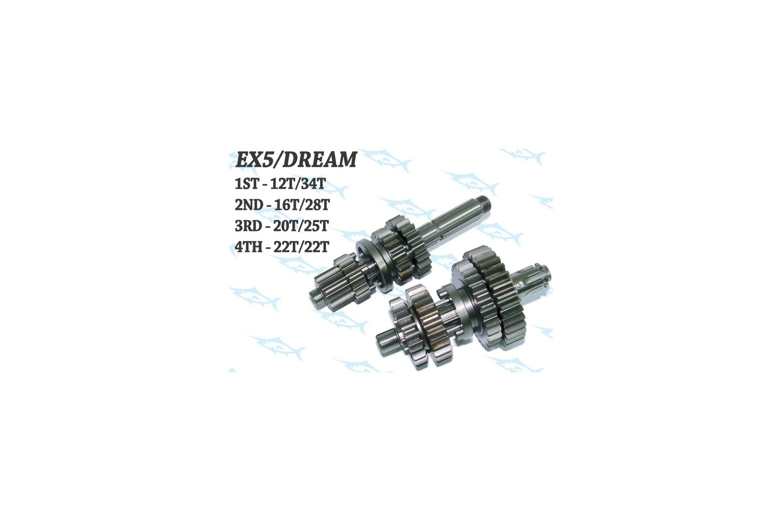 Espada Close Ratio Racing Gearbox - Honda Dream Cub  C100/Astrea/Citi/Wave/Supra/Biz 100